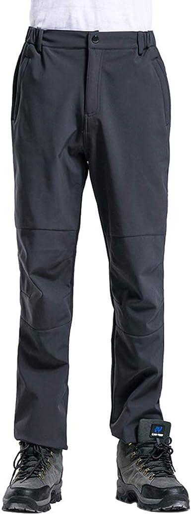 KINLOU Pantalones Escalada - Pantalón de Forro Polar de ...