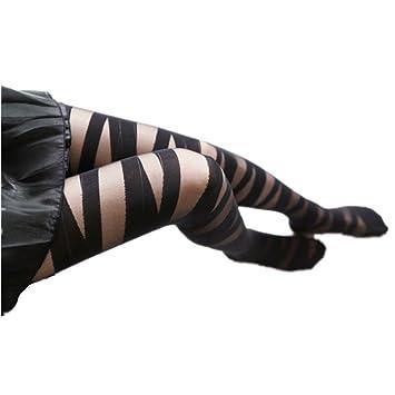 ee119201b7187c Gofypel Women's Pantyhose Sexy Silky Sheer Control Top Pantyhose Soft Tight  Zigzag Bandage Stocking Pantyhose