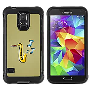 CAZZ Rugged Armor Slim Protection Case Cover Shell // Saxophone Music // Samsung Galaxy S5
