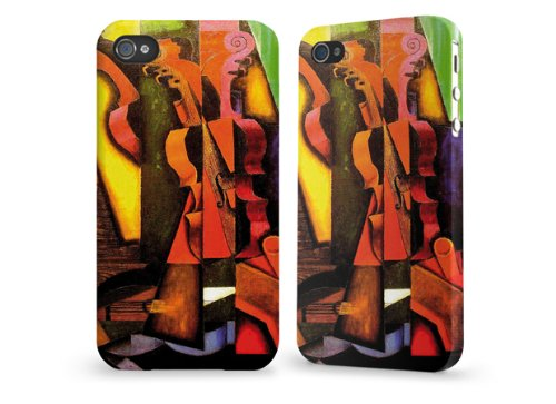 """Hülle / Case / Cover für iPhone 4 und 4s - """"Violin and Guitar"""" by Juan Gris"""