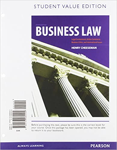 Business law student value edition 8th edition henry r business law student value edition 8th edition henry r cheeseman 9780133080094 amazon books fandeluxe Choice Image