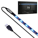 Zuoao 90cm Multi Color RGB LED Strip Light USB TV BackLight Kit with Remote Controller for 24inch to 65inch HDTV LCD Desktop PC Monitor