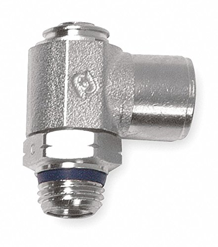 AIGNEP USA 88973-08-08 Needle Valve, Screw Adjustment, 1/2'' Tube x 1/2'' Swift-Fit Universal Thread (Nickel Plated Brass)