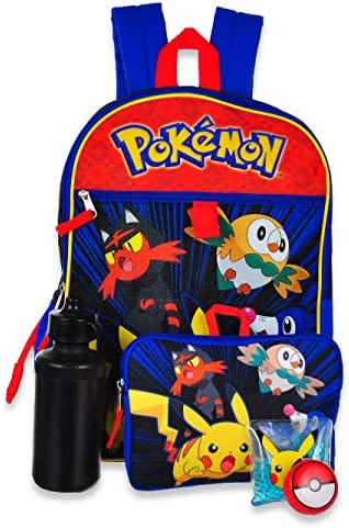 Pokemon Backpack School Supplies Pikachu Accessories