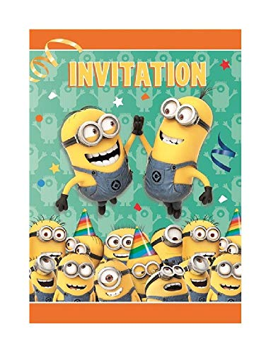 Bargain World Minion Invitations (8/pkg) (with Sticky Notes) ()