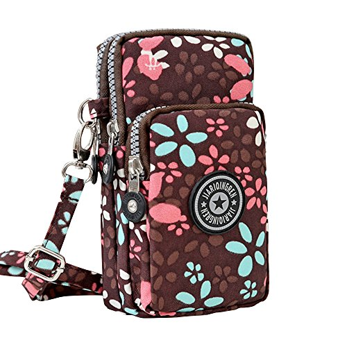 Wocharm Handbag Purse Crossbody Coffee Shoulder 3 Messenger Womens Petal Wristlet Layers Mini rqZzOrw0