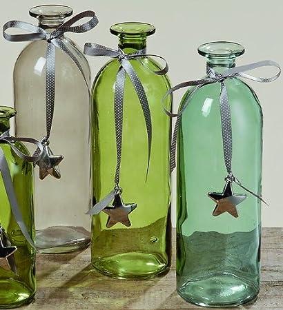 """Diseño de 3-unidades de jarrones-Set """"Tessa"""" florero de cristal"""
