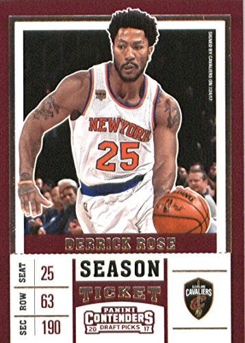 - 2017-18 Panini Contenders Drafts Picks Season Ticket Variation #13 Derrick Rose Cleveland Cavaliers - GOTBASEBALLCARDS
