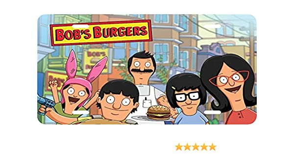 Bob/'s Burgers The Belchers TV Show Car Novelty License Plate