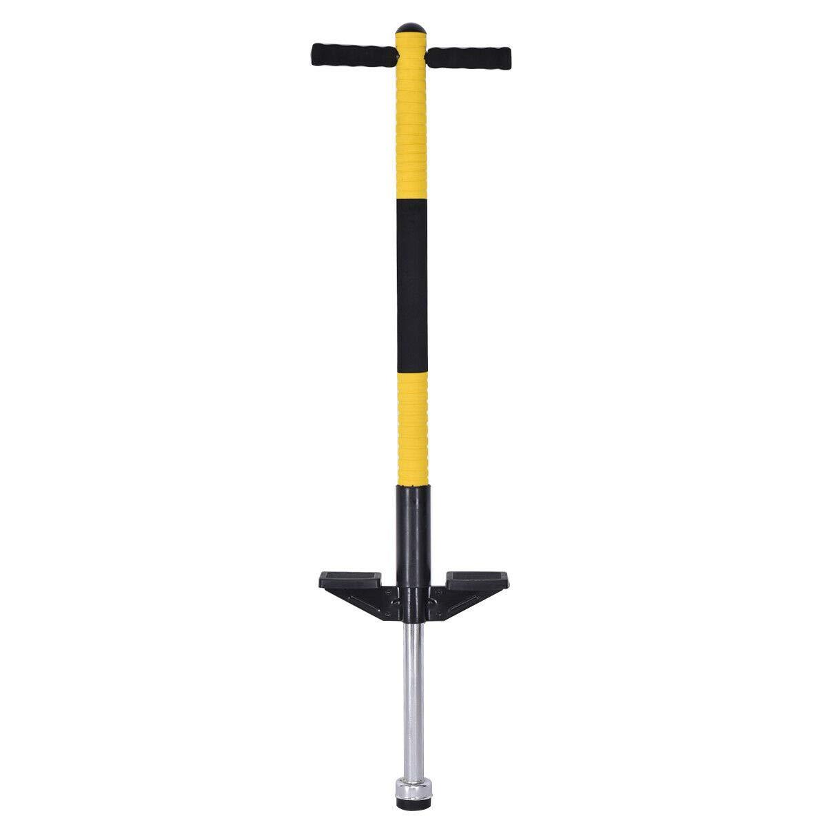 Globe House Products GHP Kids Green 38'' Hx10 W Heavy Duty Rugged Metal Frame Balance Training Pogo Stick
