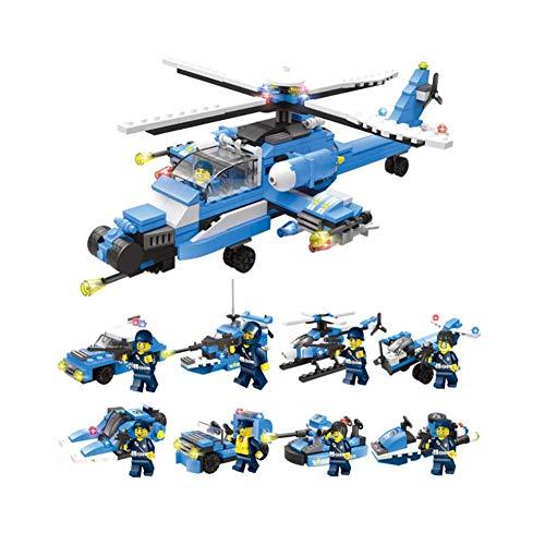 Angle Compatible con Lego 8-en-1 Ciudad policía Marina Sello Comando Militar avión portaaviones Rompecabezas montado...