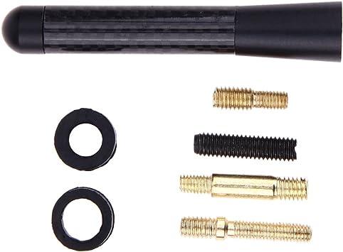 Antena de coche Demiawaking Antenas Cortas de la Antena del Cortocircuito de la Fibra FM del Carbón de los 8cm Mini para Ford Focus 2 3