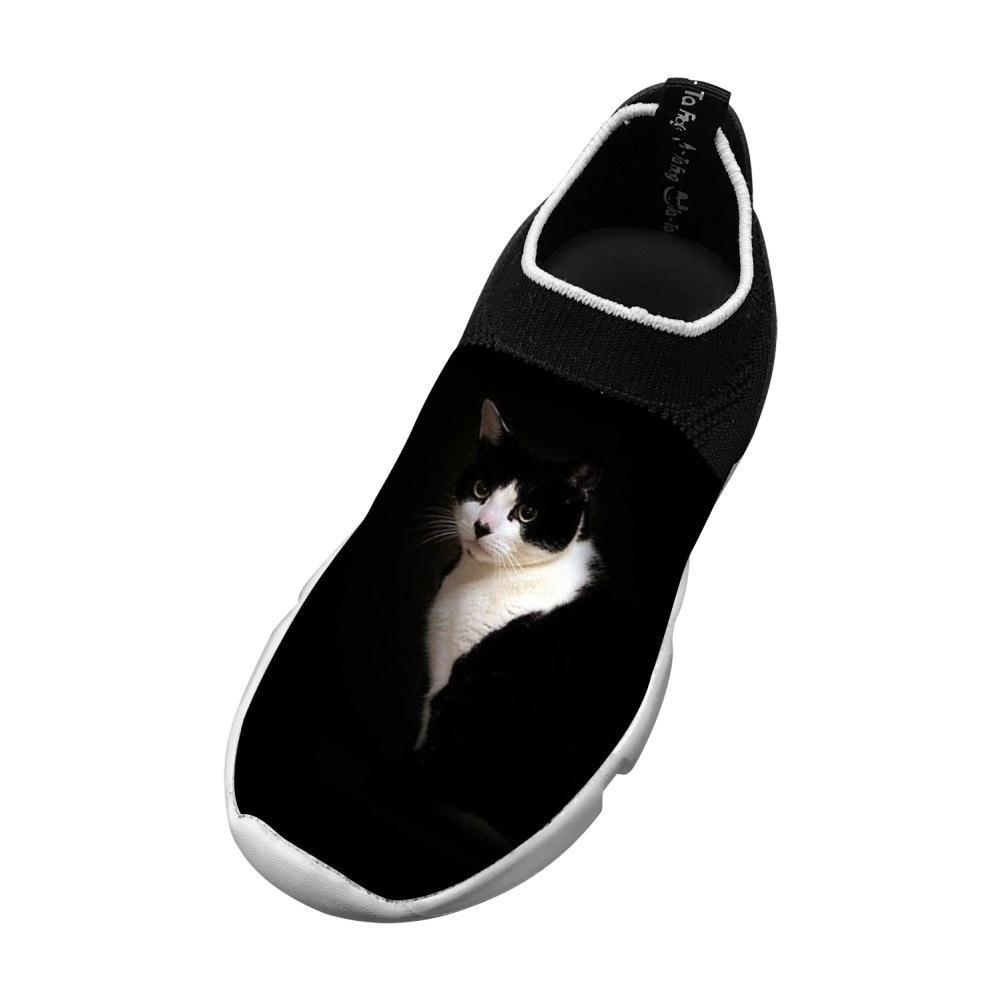 PoAn Teen Fly Knit Shoe Cat DIY Sports