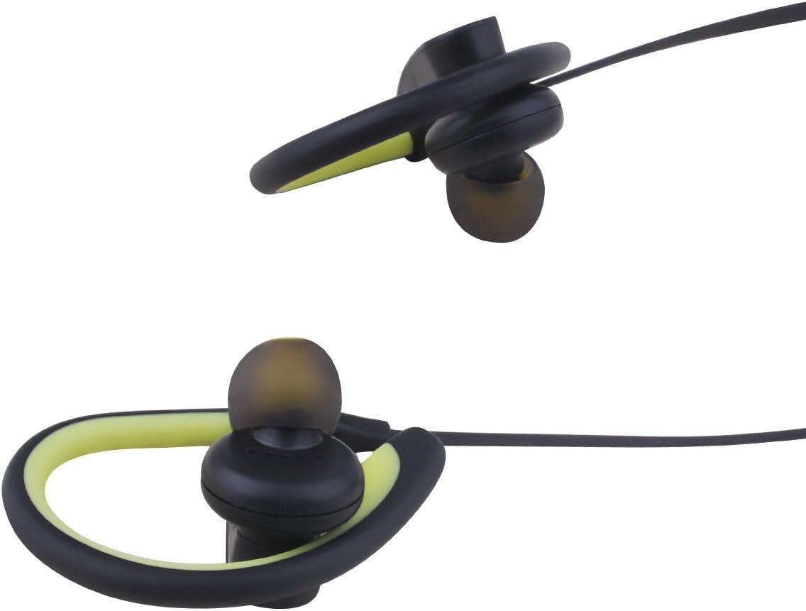 Bluetooth Wireless in-Ear Earphones Stereo Wireless Bluetooth Headphones Sports Noise Canceling Bluetooth Earbuds Waterproof Most Smart Phones Yellow