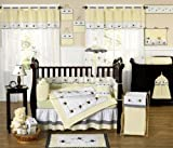 Designer Yellow Bumble Bee Baby Boy or Girl Unisex Neutral Bedding 9pc Crib Set by Sweet Jojo Designs