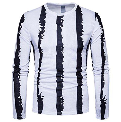 Mr.Macy Men Shirts, Men's Casual Print O Neck Pullover Long Sleeved T-Shirt Top Blouse (S, - Clothing Macys Men