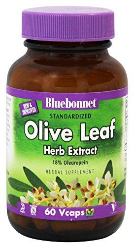 Bluebonnet Olive - Bluebonnet Nutrition - Herbals Olive Leaf Extract 300 mg. - 60 Vegetarian Capsules