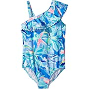 Lilly Pulitzer Kids Baby Girl's UPF 50+ Joni Swimsuit (Toddler/Little Kids/Big Kids) Bennet Blue Celestial Seas 2T Toddler