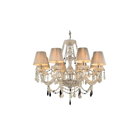 Homelava chandelier 8 lights crystal ceiling lights 60w e14 living room dining