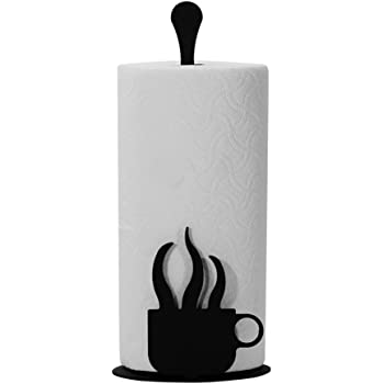Amazon.com: Iron Counter Top Coffee Kitchen Paper Towel Holder ...