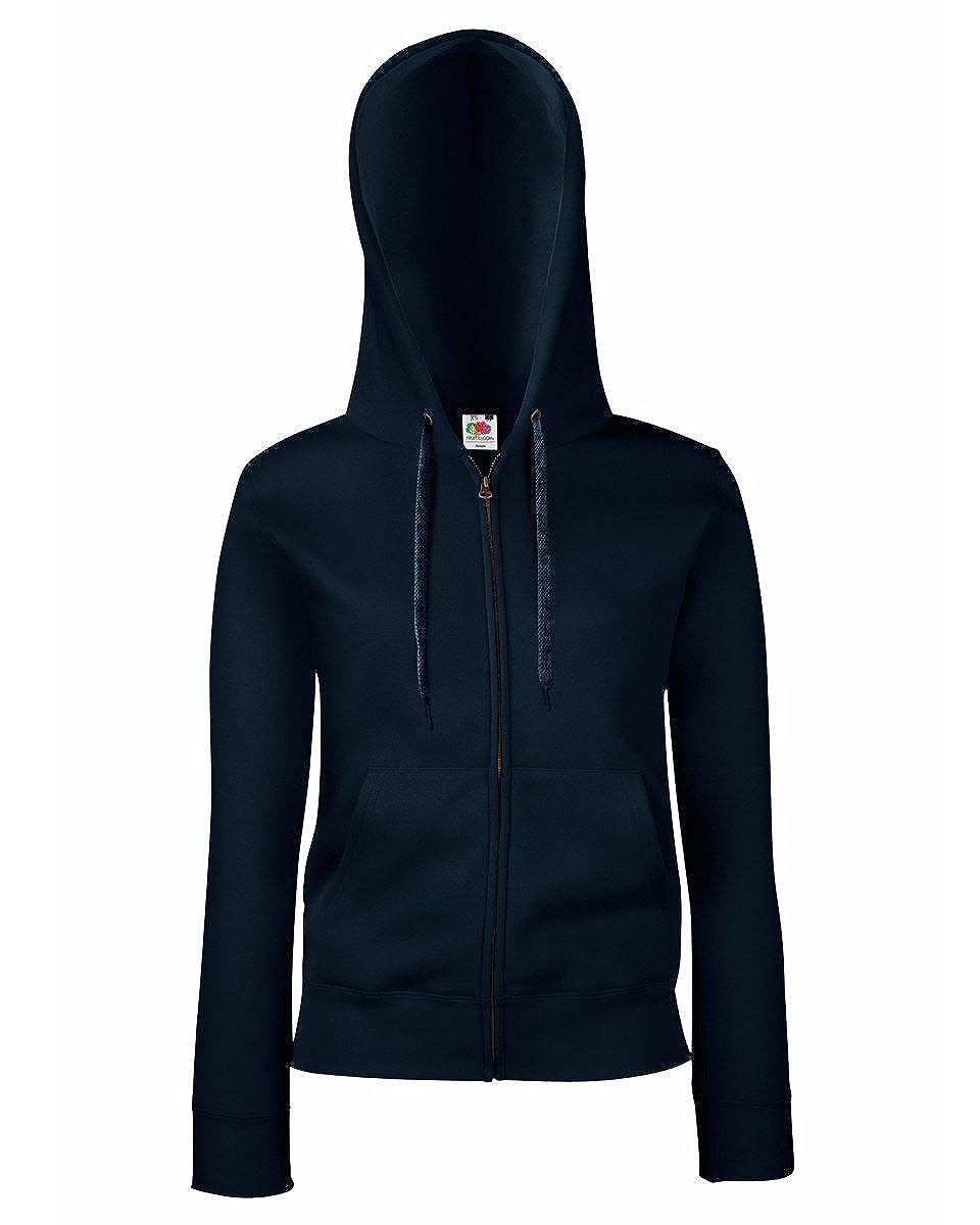 Fruit of the Loom Womens Fit Full Zip Hoodie Sweatshirt
