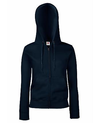 NEU Lady-Fit Hooded Sweat Jacket FRUIT OF THE LOOM