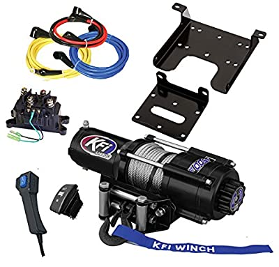 KFI Combo Kit - U45-R2 4500lbs Stealth Winch & Mount Bracket - - 2010-2018 Can-Am Commander 800 / 1000 / E