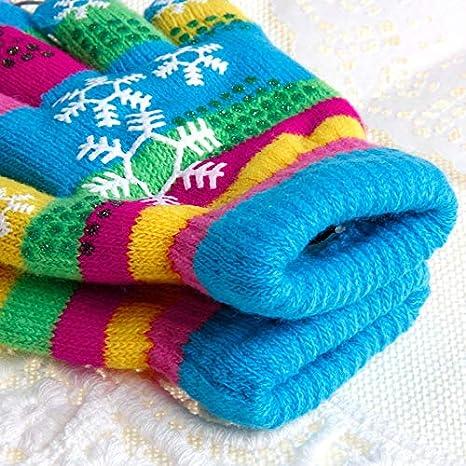 WHFDRHCPST Guanti Touch Screen Inverno Bambini Carino Bi-Layer Guanti addensati Guanti Snow Print Yarn Abbigliamento sportivo