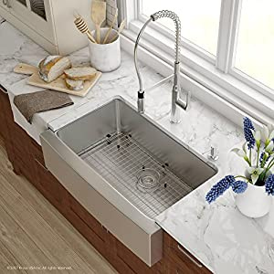 51dCTXeHjWL._SS300_ 75+ Beautiful Stainless Steel Farmhouse Sinks For 2020