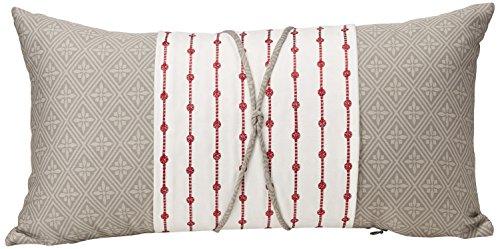 N Natori Cherry Blossom Throw Pillow, 12x22, Grey ()