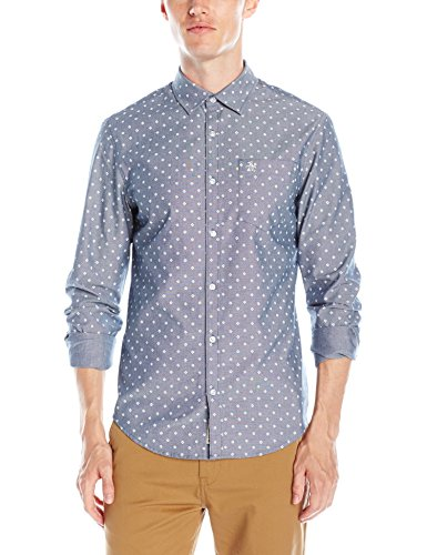 original-penguin-mens-long-sleeve-oxford-woven-shirt-dark-denim-medium