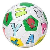 13cm/5.1inch Soccer Ball, Children Toys Soccer Balls for Outdoor Indoor Playing Training Kids Sport Match Lovely Cartoon Image Football for Children Students(Letter)