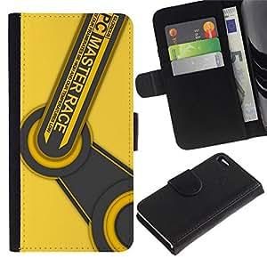 // PHONE CASE GIFT // Moda Estuche Funda de Cuero Billetera Tarjeta de crédito dinero bolsa Cubierta de proteccion Caso Apple Iphone 4 / 4S / PC Master Race /