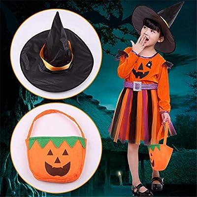 Molinter Disfraz de Halloween para niños, Calabaza, Cosplay ...