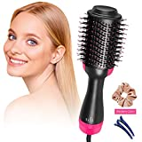 SeaRoomy Hair Dryers Brush, 3 IN 1 Hot Air Brush, Blow Dryer Brush Ceramic, Negative Ion Electric One Step Hair Dryer And Styler & Volumizer Curler With One Hair Circle And Two Hair Clips