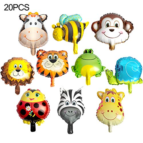 20PCS Animal Head Balloons