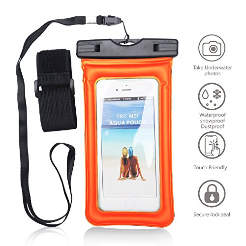 Universal Waterproof Case with Armband, Jeccy IPX8-Rated Cle