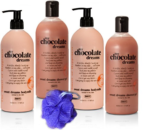 - BRUBAKER Happiness My Chocolate Dreams 5 Pcs Beauty Gift Set. Shower Gel, Body Milk Sponge - Made in GERMANY!