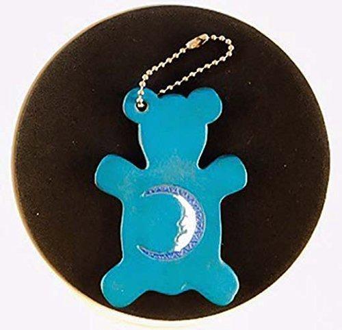 Blue Moon Leather Bear Keychain