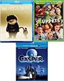 Kids Fun Adventure Collection Blu Ray Where the Wild Things Are + The Muppets Disney Movie & Casper the Friendly Ghost Family Time Movie Bundle