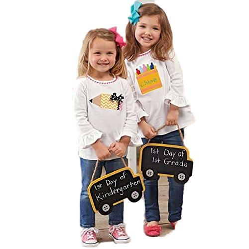 Mud Pie Little Girls' Back-To-School Crayon Tunic 12-18 Months