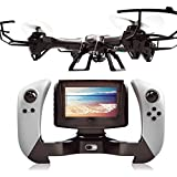 HB HOMEBOAT® U818S Large 6-Axis Gyroscope RC Quadcopter Drone Black Color with FPV Camera & WIFI-818 Real-Time FPV Remote Control
