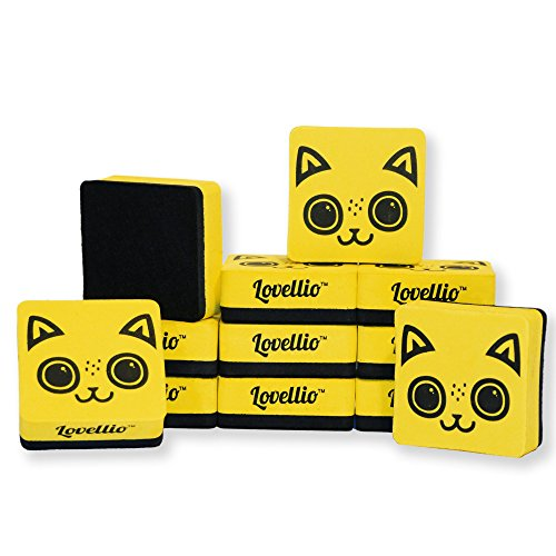 "[The Cutest Magnetic Whiteboard Dry Eraser Set Ever - by Lovellio : Two Different Prints To Choose From, Loyal Dog & Adorable Cat – Buy one and GET 20% OFF on any ""Lovellio Cat""] (Animals That Starts With Letter E)"