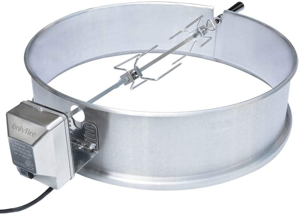onlyfire Universal Stainless Steel Charcoal Kettle Rotisserie Ring Kit for Weber 2290 and Other Models: Sports & Outdoors