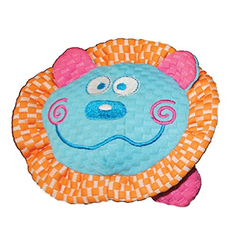 Patchwork Pet TuffPuff Lion Head 6-Inch Pet Toy
