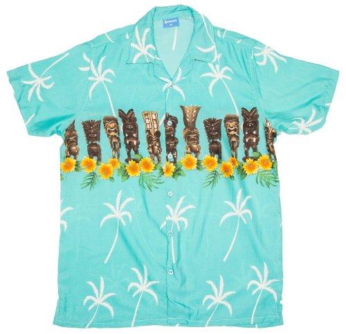 ragstock-mens-tiki-figure-print-hawaiian-aloha-shirt-blue-large