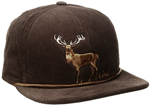 Coal Men's The Wilderness Hat Adjustable Corduroy Snapback Cap, Brown/Stag, One Size (Coal Headwear)
