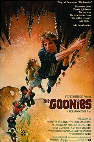 HSE 1985 Vintage Movie Poster The Goonies Brothers Treasure map Adventure 24X36 ()