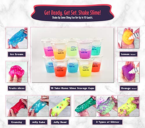 ad3a66330e3c8 No Glue! Shake Slime Kit for Girls and Boys for 10 Kinds of Shaker ...