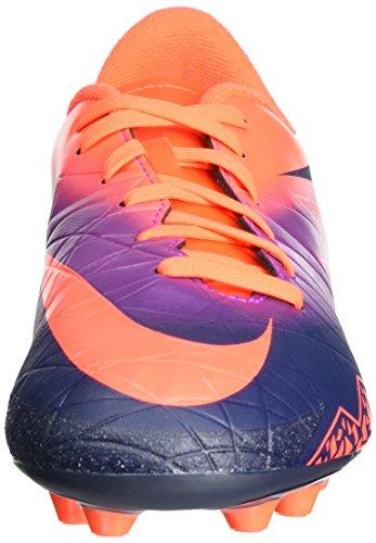 Nike 856460-845, Botas de Fútbol para Niños Naranja (Total Crimson / Obsidian / Vivid Purple)